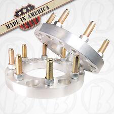 """2 USA MADE 8 Lug 6.5"""" To 8 x 6.5"""" Wheel Adapters / Spacers 1"""" W/Studs & lug nuts"""