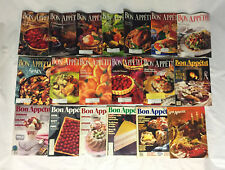 Lot of 19 Vintage Bon Appetit Magazines 1971 - 1992 Food / Cooking / recipes