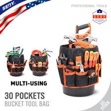 5 Gallon Bucket Organizer 30 Storage Pocket Tool Holder Tote Bag Gardening AUTO