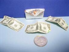 Fashion clone Barbie Doll vintage Silver Clutch Purse Orange Lining Money Bills