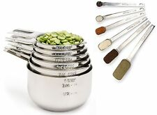 Simply Gourmet Stainless Steel Measuring Cups and Spoons Set 12-Piece