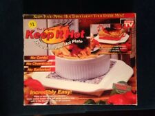 """The Original """"Keep It Hot"""" Microwaveable Hot Plate (New in the box)"""