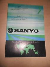 Vintage 1970s Sanyo hi-fi audio video portable system car stereo catalog Katalog