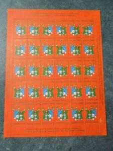 Greenland 1985 Christmas Sheet 30 Stamps/Labels  MNH
