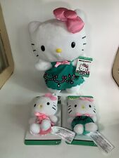 Hello Kitty Clip On Plush Keychain Purse And Larger Stuffed Doll Lot Of 3