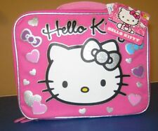 Hello Kitty Lunch Box Tote Zip Insulated Bag New NWT Pink