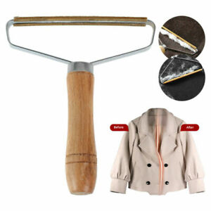 Fuzz CLEANER Fabric Sweater Remover Manual Shaver Clothes PRO Fluff Wooden LINT