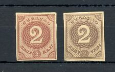 DUTCH WEST INDIES-CURACAO-1889 -2 Ct # 14 -2 x PROOF (*) AS ISSUED VF --@1