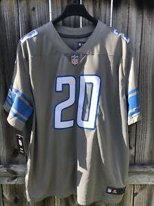 New 3XL Nike Detroit Lions Barry Sanders Color Rush NFL Football Mens Jersey HOF