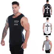 Gym King Bulking Tank Top Mens Workout VQ Fitness Stringer Vest Training T-Shirt