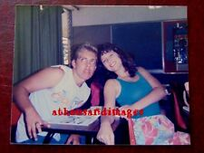 Vtg 80's Fashions&Hair Styles Photo of Young College Girl&Guy Making Faces 767