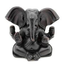 """GANESHA STATUE 3.25"""" Hindu Elephant God Dark Resin HIGH QUALITY Indian Deity"""