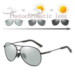 Mens Photochromic Sunglasses Polarized Transition Glasses Driving Pilot Goggles