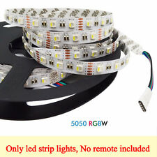 5M 5050 RGBW 4-in-1 Chip RGBW RGB+ White LED Strip Lights Waterproof DC 12V 24V