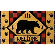 Bear Coir Doormat, Outdoor Welcome Mat, 30 by 18 Inches