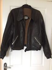 Women's Duffer of St George Leather Jacket - Brown Size XL