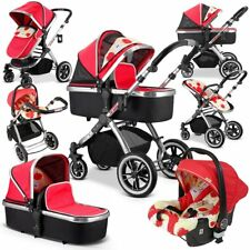 Ivogue - Apple Luxury 3in1 Pram Stroller Travel System by iSafe (complete With C
