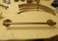 "Vintage "" Brass Wardrobe 4 Hanger "" Antique Style Wall Coat Rack Quality"