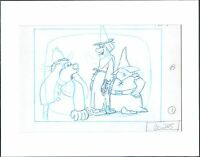 Banana Splits Fleegle production animation cell layout drawing Hanna Barbera