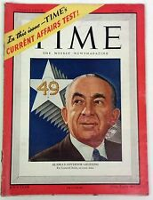 "Alaska Governor Gruening""For Comrade Stalin an ironic toast"" Time Mag 6 16, 1947"