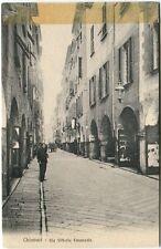 Primi '900 Chiavari Genova via Vittorio Emanuele carrozza case FP B/N ANIM