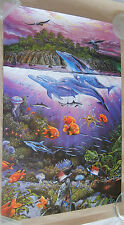 "HAND SIGNED ""Agile Sea Phantoms"" Lithograph By Artist Robert Lyn Nelson (1989)"