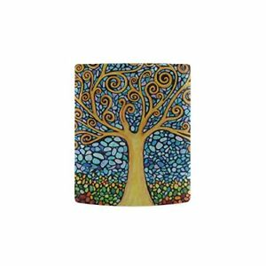 Abstract Mosaic Tree of Life White Mug Cup Coffee Mug - Best Gift for Valentine