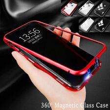 Magnetische Adsorption Metall Hülle Gehärtetem Glas Abdeckung iPhone 7 8 plus X