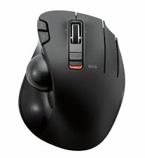 ELECOM M-XT3DRBK Wireless Trackball Mouse 6-Button with Smooth Tracking Funct...