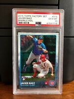 2015 Topps Sparkle Foil Javier Baez Chicago Cubs Rookie Card #315 PSA 10 POP 3