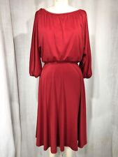 New listing Vintage 1970's Red Peasant Dress