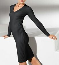 Wolford Merino Rib Dress V-neck Black Size Small UK 10-12 USA 6-8