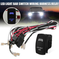 40A 12V 300W LED Light Bar Rocker On/Off Switch Relay Fuse Wiring Harness