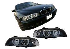 Faros Angel Eyes para BMW 5 Series E39 96-03 Facelift Design Negro Cromo Edition
