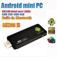 MK809III Quad Core Mini PC Android 4.4 Smart TV Box Stick HDMI Bluetooth Wifi