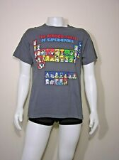 The Periodic Table Of Superheroes T Shirt Dark Grey with Logo.Size L  A3