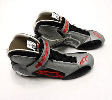 ALPINESTARS Tech 1-T Racing Shoes Grey / Black 7 US 39 Euro SFI Race Boot NEW