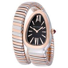 Bvlgari Serpenti Tubogas Black Opaline Dial Quartz Ladies Watch 102123