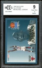 1992-93 Fleer All-Stars #6 Michael Jordan Card BGS BCCG 9 Near Mint+