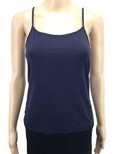 New $140 Elie Tahari Women'S Blue Scoop-Neck Layering Camisole Tank-Top Size S