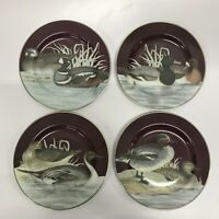 "Set of 4 - Fitz & Floyd 1995 Salad Plates - ""Canard"""