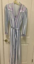 Robe & Gown Set Vintage Satin Blue M