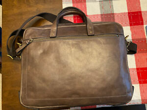 Fossil Mens Briefcase Messengar Bag Brown