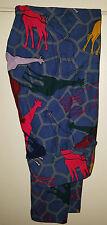 Luluaroe Leggings Multi Color Giraffe Blue Background One Size OS New Unicorn