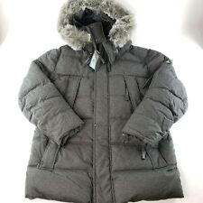 Mens Heavy Down Parka Jacket Faux Fur Waterproof Spire Alastair Sz L Winter Ski