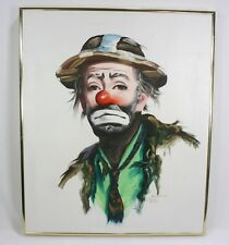 "RUSTY RUST Signed Original Oil Painting 24""X20"" CLOWN Emmett Kelly ©1985 98/250"