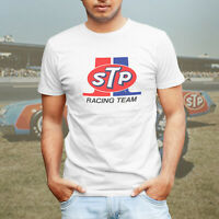 STP Racing Team NASCAR or NHRA Drag Vintage Retro Logo Mens Tee T-Shirt White