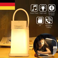 3 in 1 LED Schreibtischlampe Leselampe Nachtlicht USB Bluetooth Lautsprecher DE