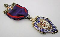 Sterling Silver & Enamel Medal..Loyal Sir Walter Raleigh Lodge..Hallmarked 1931.