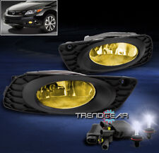 2012 HONDA CIVIC SEDAN 4DR BUMPER JDM YELLOW FOG LIGHTS W/6K HID+WIRING HARNESS